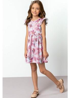 vestido cotton infantil feminino fantasy rosa dingdang 851402 1