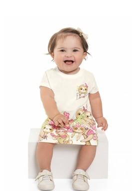 vestido cotton bebe feminino preguicinhas natural beeloop 13845 2