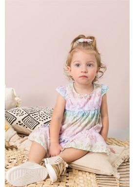 vestido crepe bebe feminino candies azul dingdang 853002 2