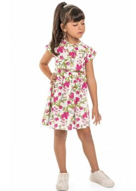 vestido meia malha infantil juvenil feminino floral natural beeloop 13855 1