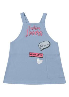 salopete molecotton bebe feminino fahion lovers azul marlan 40434