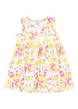 vestido ponto roma bebe feminino estampado amarelo marlan 40424
