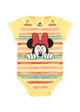 body suedine bebe feminino minnie amarelo marlan d6161
