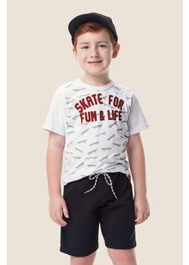 camiseta meia malha infantil masculina skate branco marlan 64617 1