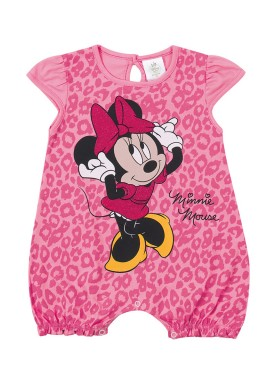 macacao curto meia malha bebe feminino minnie rosa marlan d4213 1