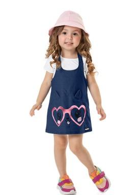 salopete molecotton jeans infantil feminino marinho marlan 42480 1