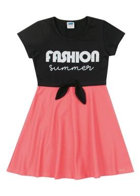 vestido cotton e molecotton infantil feminino fashion preto marlan 64578