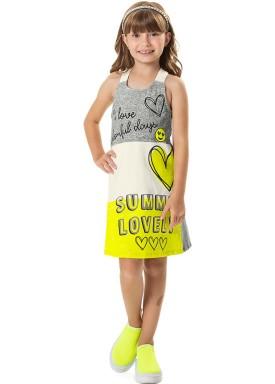 vestido cotton infantil feminino summer mescla marlan 44753 1