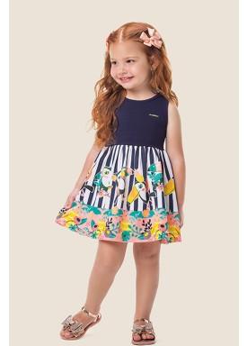 vestido cotton infantil feminino tucanos marinho marlan 62475 1