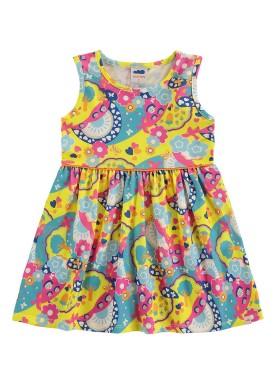 vestido meia malha infantil feminino natureza amarelo marlan 62461